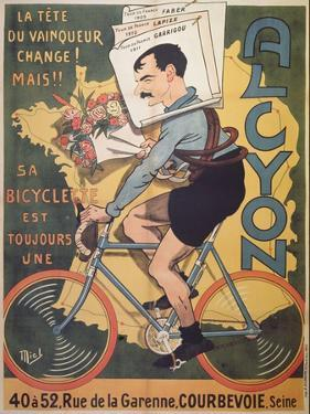 Poster Advertising 'Alcyon' Cycles with the Winners of Tour de France Faber by Michel Liebeaux