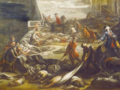 Plague Victims, Detail from Plague in Marseilles, 1721
