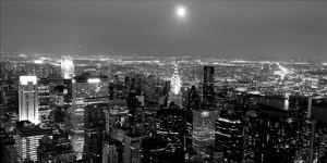 Aerial view of Manhattan, NYC by Michel Setboun
