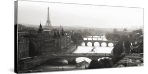 Bridges over the Seine river, Paris by Michel Setboun
