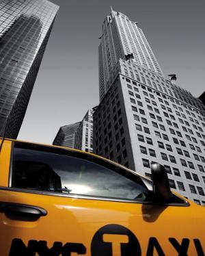 Chrysler Building, New York City Taxi by Michel Setboun