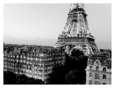 Eiffel tower and buildings, Paris