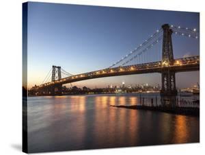 Queensboro Bridge and Manhattan from Brooklyn, NYC by Michel Setboun