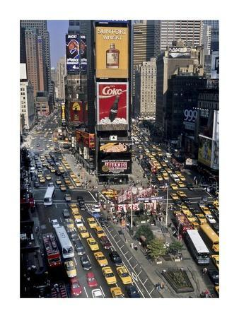 Traffic in Times Square, NYC