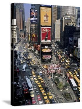 Traffic in Times Square, NYC by Michel Setboun