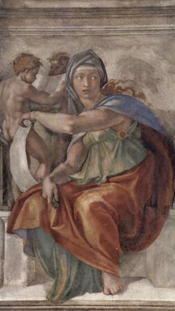 Michelangelo Buonarroti (Ceiling fresco of Creation in the Sistine Chapel, scene in Bezel: The Delp