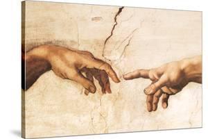 Creation of Adam (detail) by Michelangelo Buonarroti