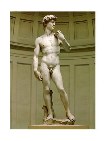 David. Marble statue (after 1501). by Michelangelo Buonarroti