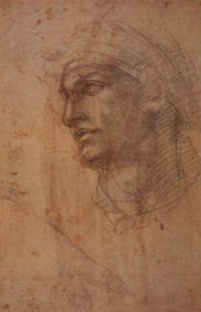 Head of Adam by Michelangelo Buonarroti