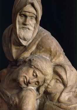 Jesus, Mary and Nicodemus, Detail from Pieta Bandini by Michelangelo Buonarroti