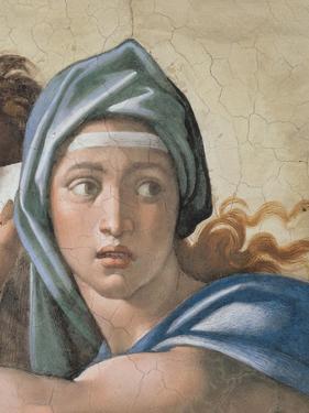 Sistine Chapel Ceiling, Delphic Sibyl's Face by Michelangelo Buonarroti