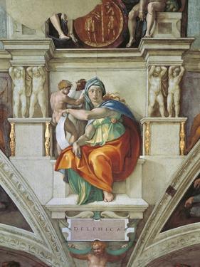 Sistine Chapel Ceiling, Delphic Sibyl by Michelangelo Buonarroti