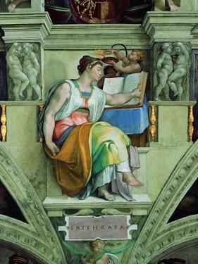 Sistine Chapel Ceiling, Erythraean Sibyl by Michelangelo Buonarroti