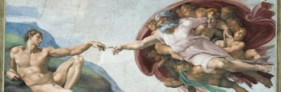 Sistine Chapel Ceiling, God to uches Adam with His Finger