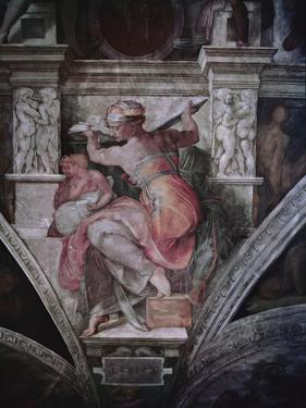 Sistine Chapel Ceiling: Libyan Sibyl, C.1508-10 (Fresco) by Michelangelo Buonarroti