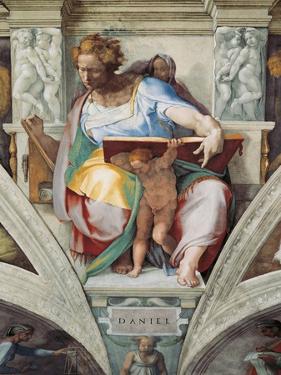 Sistine Chapel Ceiling, Prophet Daniel by Michelangelo Buonarroti