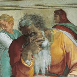 Sistine Chapel Ceiling, Prophet Jeremiah by Michelangelo Buonarroti