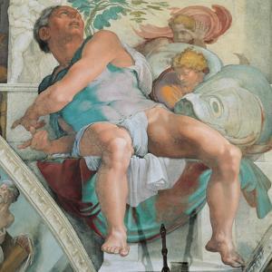 Sistine Chapel Ceiling, Prophet Jonah by Michelangelo Buonarroti