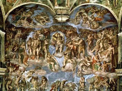 Sistine Chapel: the Last Judgement, 1538-41 by Michelangelo Buonarroti