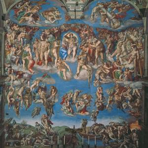 Sistine Chapel, the Last Judgment (Entire View) by Michelangelo Buonarroti