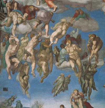 Sistine Chapel, the Last Judgment, Saved Souls by Michelangelo Buonarroti
