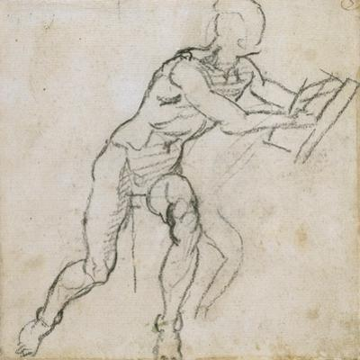 Study of a Seated Male Nude, C.1511 by Michelangelo Buonarroti