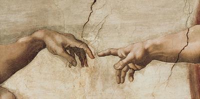 The Creation of Adam, c.1510 (detail) by Michelangelo Buonarroti
