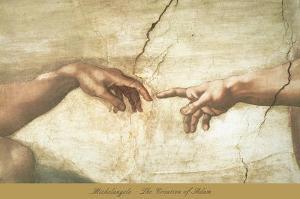 The Creation of Adam (detail) by Michelangelo Buonarroti