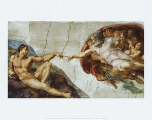 The Creation Of Adam by Michelangelo Buonarroti