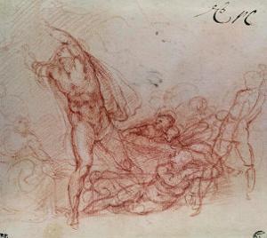 The Resurrection of Christ, circa 1536-38 by Michelangelo Buonarroti