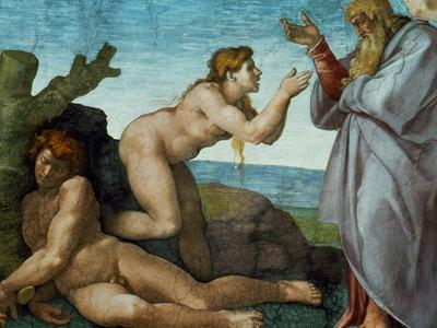 The Sistine Chapel; Ceiling Frescos after Restoration, the Creation of Eve