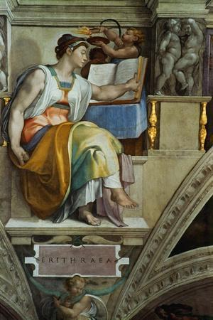 The Sistine Chapel; Ceiling Frescos after Restoration, the Erithrean Sibyl