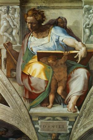 The Sistine Chapel; Ceiling Frescos after Restoration, the Prophet Daniel