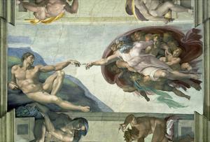 The Sistine Chapel: Creation of Adam, 1510 by Michelangelo Buonarroti