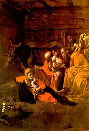 Michelangelo Caravaggio Adoration of the Shepherds Art Print Poster