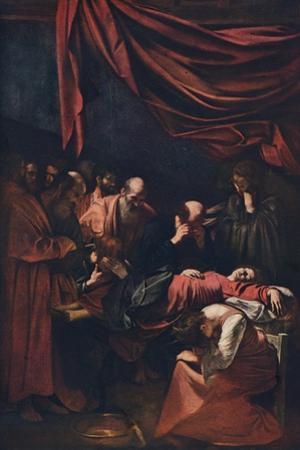 'Death of the Virgin', c1606 by Michelangelo Caravaggio