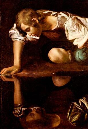 Michelangelo Caravaggio (Narzis) Art Poster Print
