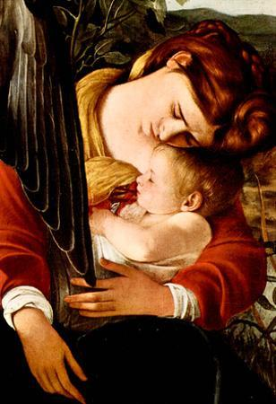 Michelangelo Caravaggio Resting on the Flight into Egypt Detail 2 Art Print Poster