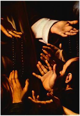 Michelangelo Caravaggio Rosary Madonna Detail 2 Art Print Poster