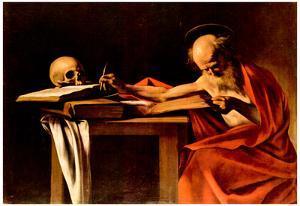 Michelangelo Caravaggio (St. Jerome when writing) Art Poster Print