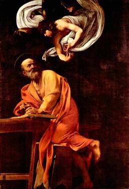 Michelangelo Caravaggio St Matthew and the Angel Art Print Poster