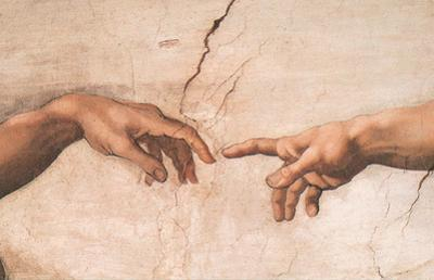 Creation-detail by Michelangelo