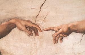 Creation-detail by Michelangelo