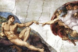 Michelangelo (Creation of Adam) Art Poster Print