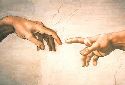 Michelangelo Creation of Adam Detail Sistine Chapel Art Print Poster