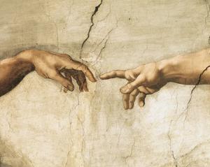 Creation of Adam (detail) by Michelangelo