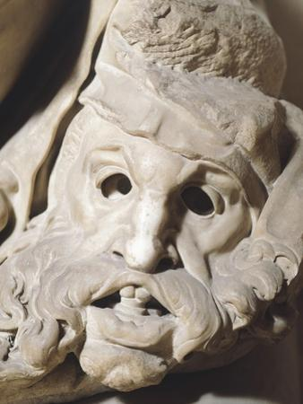 Italy, Florence, Church of San Lorenzo, Night, Detail from Tomb of Giuliano De' Medici, 1525-1534 by Michelangelo