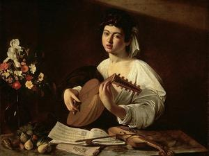 The Lute Player, C.1595 by Michelangelo Merisi da Caravaggio