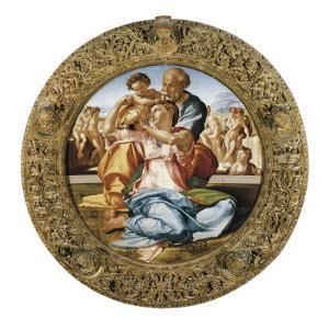 The Holy Family with St by Michelangelo