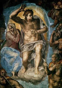 The Last Judgment (Detail) by Michelangelo